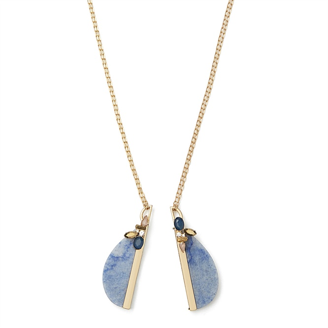 Split rock duo necklace necklaces close aloadofball Gallery