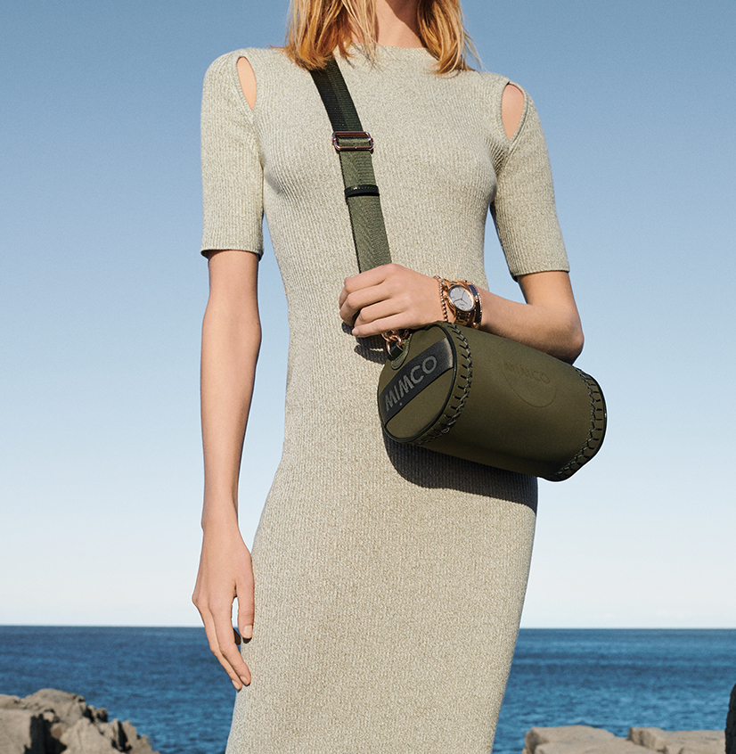 Mimco - Olive Green Cross Body Bag