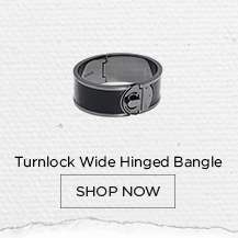 Turnlock Wide Hinged Bangle